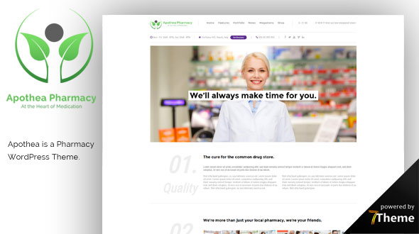 Apothea WordPress Theme- Launch Your Website