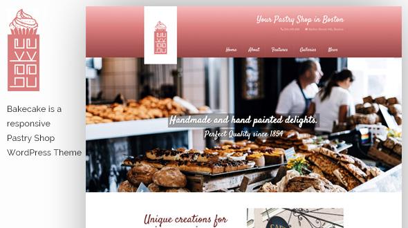 Bake Cake WordPress Theme- Launch Your Website