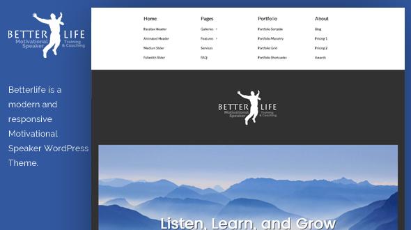 BetterLife WordPress Theme- Launch Your Website