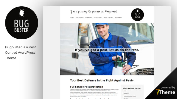 Bugbister WordPress Theme- Launch Your Website
