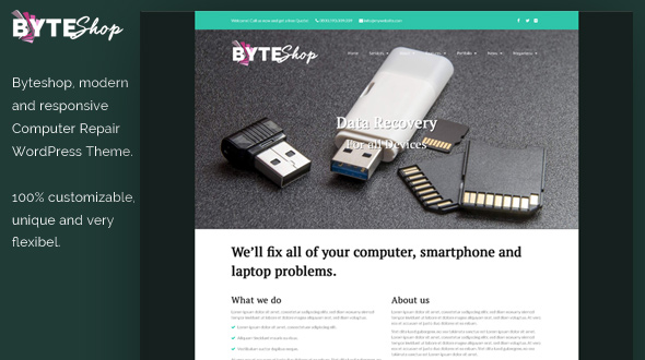 ByteShop WordPress Theme- Launch Your Website
