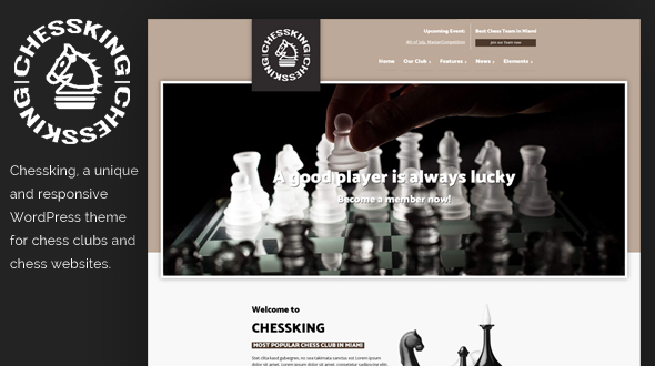 Chessking WordPress Theme- Launch Your Website