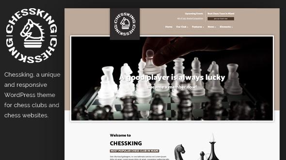 Chessking WordPress Theme- Launch Your Website