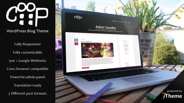 Coop WordPress Theme- Launch Your Website