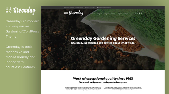 Greenday WordPress Theme- Launch Your Website
