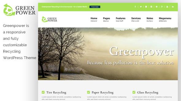 GreenPower WordPress Theme- Launch Your Website