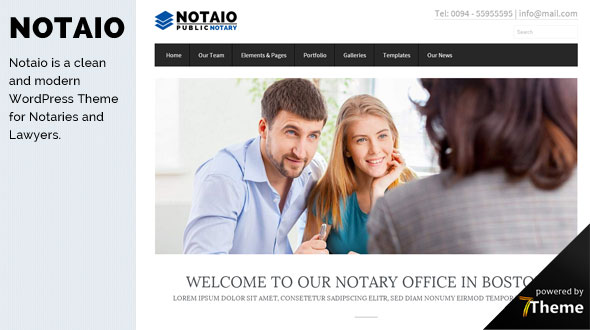 Notaio WordPress Theme- Launch Your Website