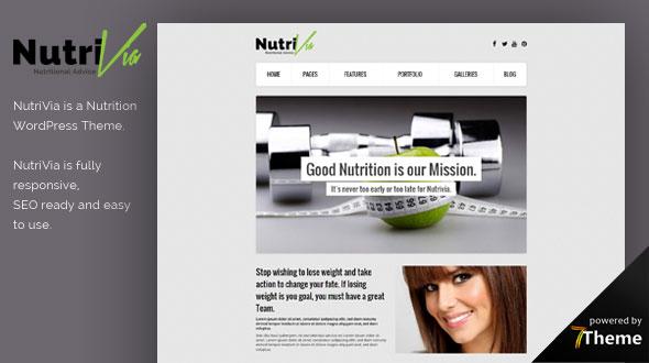Nutrivia WordPress Theme- Launch Your Website