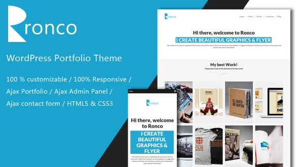 Ronco WordPress Theme- Launch Your Website