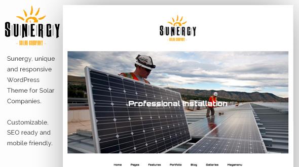 Sunergy WordPress Theme- Launch Your Website