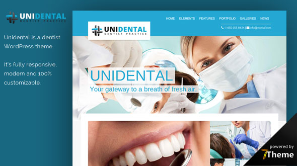 Unidental WordPress Theme- Launch Your Website