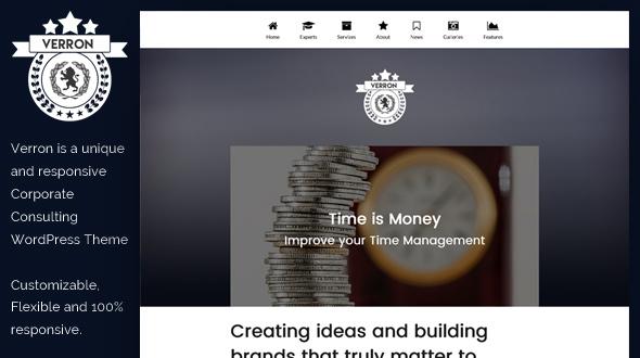 Verron WordPress Theme- Launch Your Website