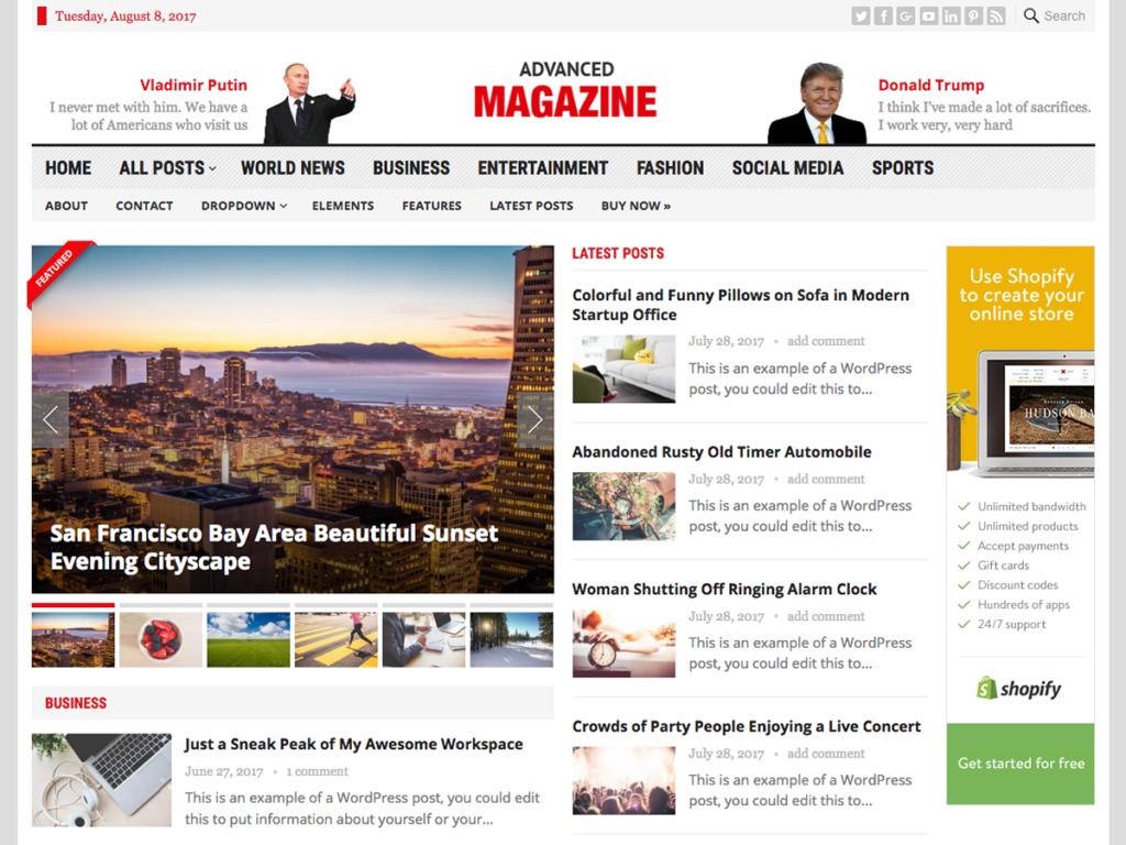 Advanced Magazine-Happy Themes-Best Responsive WordPress Themes