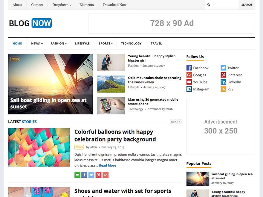 BlogNow-Happy Themes-Best Responsive WordPress Themes
