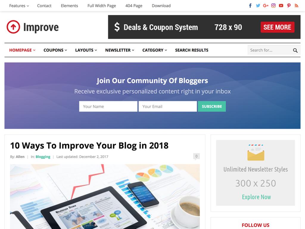 Improve-Happy Themes-Best Responsive WordPress Themes