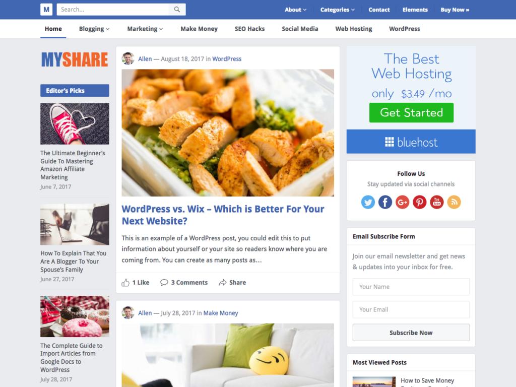 Myshare-Happy Themes-Best Responsive WordPress Themes