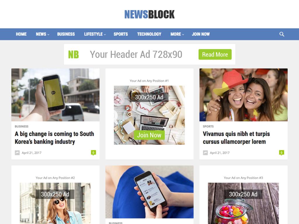 NewsBlock-Happy Themes-Best Responsive WordPress Themes