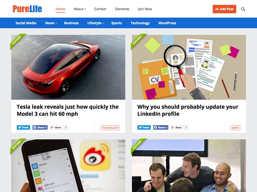 PureLife-Happy Themes-Best Responsive WordPress Themes
