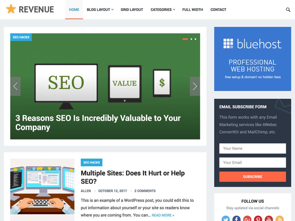 Revenue-Happy Themes-Best Responsive WordPress Themes