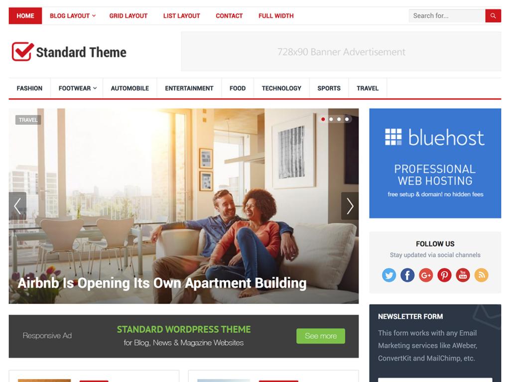 Standard-Happy Themes-Best Responsive WordPress Themes