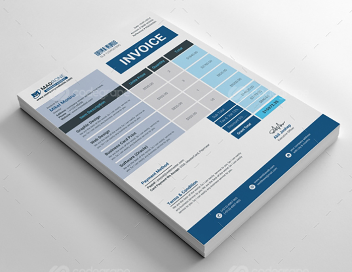 invoice templates bundle template ready customizable editable greedeals modern fully extended license closer take business