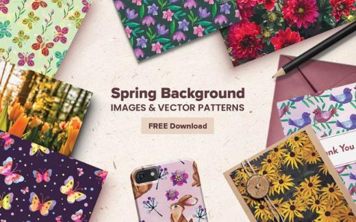 Spring Background Images Freebie